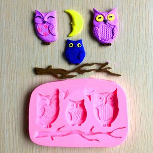 Cake Mold Owl Silicone Mould Bird Moon and Branch Mold Cake Decoration Fondant Gum Paste Chocolate Resin Mould Kitchen Accessories