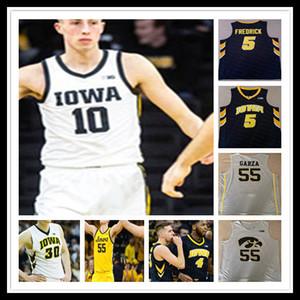 Özel Iowa Hawkeyes Kolej Formaları Basketbol Luka Garza Bohannon Jack Nunge Baki Evelyn Austin Ash Ryan Kriener Cordell PEMSL 4XL