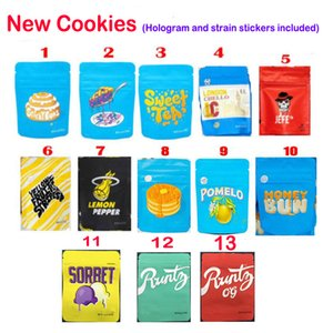 3.5G 1/8 Cookies Californie Post-it Buns Berry Pie Sweet Tea LondonChello Jefe Jaune Fruit Stripes Citron Poivre Sacs d'emballage à sec Herb