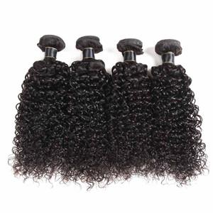 Brasilianisches Jungfrau-Haar-tiefe Welle Jerry Curly lose Tiefe 3/4 Bundles Weaves Malaysian peruanische Billigere Lans Haar-Verlängerungs-geradem Körper-Welle