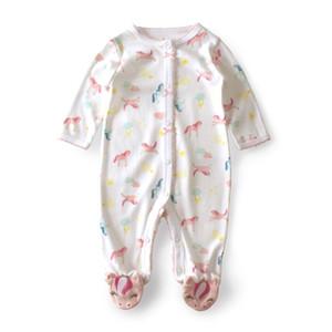 3-12 M Rompers lace Girl Romper Newborn onesie kids costume bebek tulum one piece Unicorn Baby clothes T200706