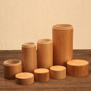 Мини Pure Bamboo Straight Чай Ящики для хранения Малого путешествия Sealed Портативной Чай Кофе Контейнер баночка Чай Caddy Организатор T191218