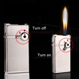 Jobon 토치 라이터 시가 담배 2 종류의 불꽃 크리 에이 티브 그라인딩 휠 리필 제트 라이터