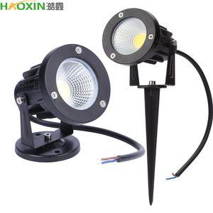 HaoXin 방수 야외 정원 잔디 램프 COB 잔디 풍경 빛 스파이크 전구 정원 IP65 야외 스팟 조명