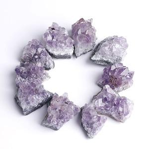 Небольшие кусочки аметистового кластера гальваника природные аметисты кластеры грубый камень голые камни материал Аметистин новое поступление 4 98ys L1