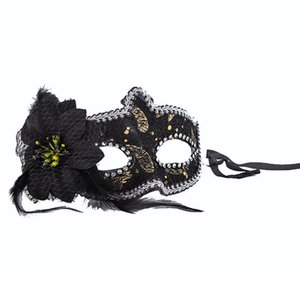 Yeni Kadın Seksi Yan Çiçek Glitter Göz Maskesi Parti Maskeleri Masquerade Cadılar Bayramı Venedik Kostümleri Karnaval Maskesi Mardi Için