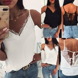 Women Lace Summer Vest Sleeveless Beach Holiday Shirt Blouse Tank Tops T-Shirt