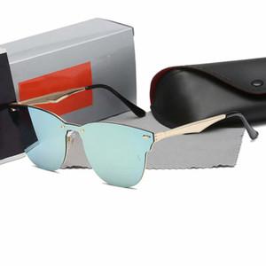 Lunettes de soleil de style pilote Marque Designer lunettes de soleil pour hommes Femmes Cadre en métal Flash Mirror Lens Lens Lunettes de soleil de la mode