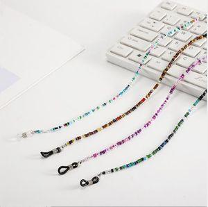 Wholesale Quality Retro-Vintage Colorful glass Bead Glasses Chain for Sunglasses Readinglasses Anti-Slip lightweight Handmade String 67cm