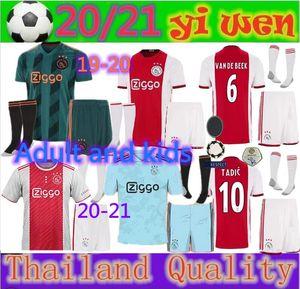 19 20 21 AJAX FC Soccer Jersey DE JONG TADIC de Ligt ZIYECH van Beek NERES Adultos e crianças Tailândia 2019 2020 2021 camisa de futebol