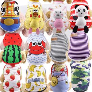 Cute Pet Dog Clothes Cat T-shirt Vest Small Cotton Mesh Puppy Soft Coat Jacket Summer Apparel Cartoon Summer Clothes Costume Pet Supplies