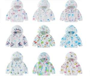 Bambini Estate protezione solare traspirante maglia sottile dei ragazzi del vestito delle ragazze di stile degli Esteri Shirts trasporto bambino cappotti libero
