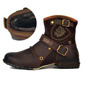 Spring Autumn Vintage Style Men Leather Ankle Boots Male Lace Up Footwear Fashion Casual Men Botas Hombre 11#22 20D50