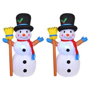 1.2M وسانتا كلوز لعبة نفخ في الهواء الطلق عيد الميلاد ضوء الديكور ساحة قوس حلية