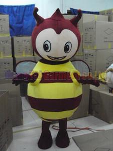 Honey Bee del costume della mascotte di trasporto formato adulto, Bee vendite della fabbrica il vestito della mascotte della peluche di carnevale del anime del cinema classico cartone animato mascotte