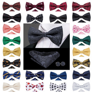 Fast Shipping Mens bow tie Black Paisley 25 styles Jacquard Woven Silk Bow Tie Wholesale Wedding Dress Business Free Shipping LH-0718