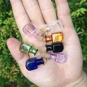 Mini frascos de vidro com frete Cork Garrafas pequeno presente minúsculo Jars Frascos Mix 7colors gratuito garrafa de desejos