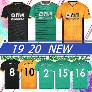 الذئاب التايلاندية 9 راؤول Wolverhampt CUTRONE RAUL NEVES 2020 زي جيرسي واندرارز مجموعة كرة القدم DIOGO J. MEN الجديد 19 20 الأعلى
