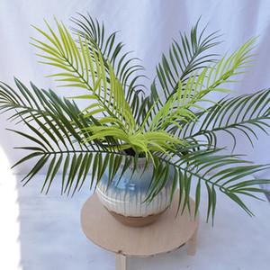 Plantas artificiais Decorações de palmeiras de samambaia falsa Planta Haste de palmeira artificial Decoração de parede verde Planta de vegetação falsa EEA462