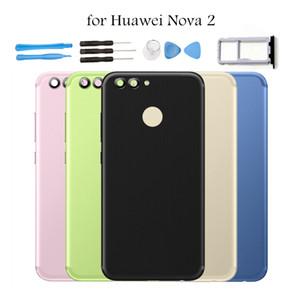 """5.0 """"per Huawei nova 2 Coperchio posteriore per batteria Coperchio posteriore Coperchio in metallo per portapunta per Huawei Nova2 Supporto per riparazione pezzi di ricambio"""