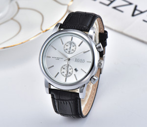 2020 최고 남자 시계 브랜드 고급 캐주얼 가죽 스포츠 BOSS 남성 벨 저렴하고 아름다운 장식 다이얼 시간대가하는 시계 시계 석영