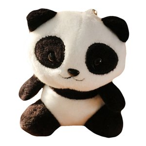 2019 New Cute Cartoon Panda Plush Stuffed Doll Toy Keychain Key Ring Backpack Ornament Room decorations
