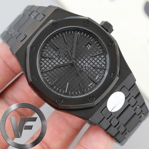 VF preto Sapphire Mens 41 milímetros Assista 2813 Automatic Movimento Moda Masculina Relógios Mecânicos Royal Oak 15400 Relógios de pulso