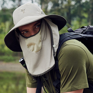 Face Shield Hat Sun Hats Summer Men's Fishing Quick-drying Cap Outdoor Breathable Female Sunscreen Caps Cover Face Anti-ultraviolet Fisherma