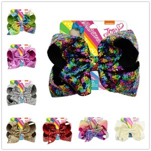 Cute Girls Sequins Barrettes Cute Colorful Hairpin bowknot Glitter Hair Clips Kids Hairclip Headress Hair Accessories Boutique D6410