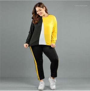 Panelled Long Pants Fashion Casual 2 PCS Set Female Clothing 2020 New Spring Womens Designer Tracksuits