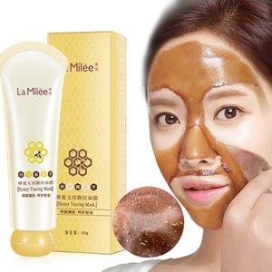 Miele maschera strappo controllo dell'olio Maschera di rimozione di comedone Peel Off Dead pelle pulita pori Riduci maschere acne Deep Clean Mask