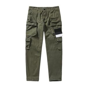 CP topstoney PIRATA EMPRESA konng gonng mono de la primavera y el otoño de la marca nueva moda los pantalones casuales de los hombres de alta versión en negro del verde caqui