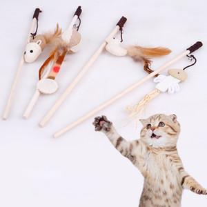 رخيصة مضحك لعب القط لعب اكسسوارات الحيوانات الأليفة القط دعابة ريشة اللعب العصا لممارسة الحيوانات الأليفة اللعب