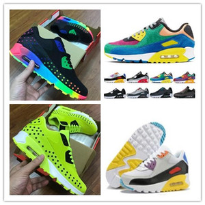 2019 new top quality nike air max 90 stars KPU running shoes air max 90QS Viotech   trainer shoes  men and women air sneakers with logo size 36-45