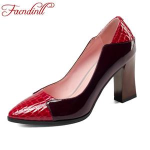 FACNDINLL zapatos de mujer de cuero genuino con tacones altos de moda zapatos de punta estrecha mujer vestido de fiesta para mujer zapatos de damas tamaño 43
