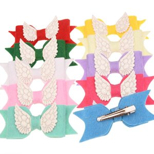 120PCS Fashon Hair Bows with Angel wing Clips Boutique Barrette Flower Hair Accessories clips for women Cute Hairclip
