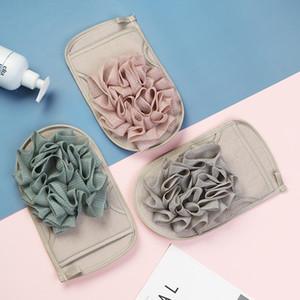 Guante de baño con Flover Exfoliante Esponja de baño de doble cara Guantes Guantes de ducha del baño de limpieza de cuerpos de cepillos masaje toalla