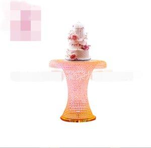 Il nuovo centrotavola alto di vendita caldo di stile si leva in piedi un candelabro di cerimonia nuziale di cristallo di armi delle braccia per la vendita best0977