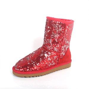 Australiana Snow Boots donne Bling Sparkles inverno caldo di design Outdoor stivali di moda donna in pelle bovina di stivaletti di lusso scarpe di marca IVG