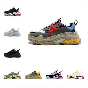 2020 Triple S de designer sapatos casuais para homens mulheres das sapatilhas de vintage black white Bred mens luxo 20fw rosa instrutor das sapatilhas grandes únicos esportes