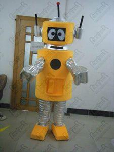 cartoni animati costumi mascotte plex robot giallo attore camminare mano make qualità Yo Gabba Gabba COSTUMI ostumes POLE STAR MASCOTTE