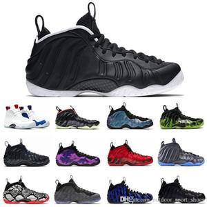 Nueva Dr. Doom Penny Hardaway zapatos de baloncesto de los hombres de la espuma Una destrozada Tech Fleece OG Real Negro Oro metálico para hombre zapatillas de deporte de los formadores