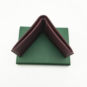 محفظة رجل قصير محافظ الرجال الصغيرة المغلفة قماش مع جلد طبيعي متعددة BIFOLD محافظ مع صندوق وكيس ورقي