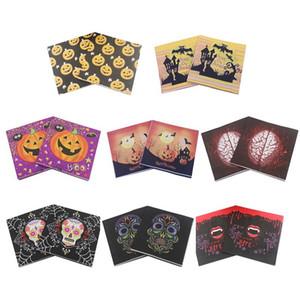 20pcs / set Strumenti di Halloween della decorazione della Tabella Decorazioni di Halloween Paper Napkin Pumpkin Skull Stampa su carta asciugamani partito