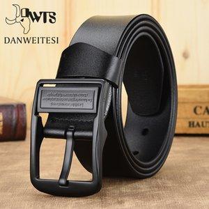 [DWTS] leather belt men belt male male genuine leather belt strap luxury pin buckle belts for men Cummerbunds ceinture homme Y200520