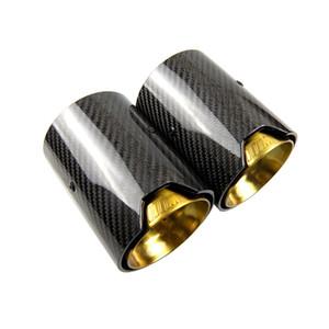ذهبي اللون م أداء ألياف الكربون العادم طرف ل bmw m2 f87 m3 f80 m4 f82 f83 m5 f10 m6 f12 f13 كاتم الصوت تلميح
