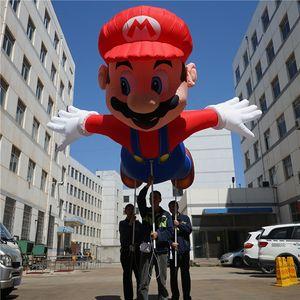 Publicidad Inflables Globo 4m Longitud María de marionetas con la tira del LED para la decoración inflable desfile de demostración de la etapa