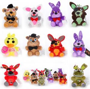 10styles 15-18cm Five Nights At Freddys plush dolls Cartoon hook Toys Kids Birthday Party Christmas Gift soft Novelty Items FFA823 20PCS