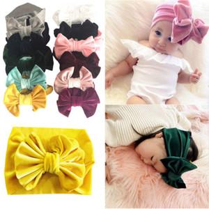 Velvet Bow Baby Girl Headband recém-nascido da criança Natal Hairband seis centímetros macio Elastic Lot