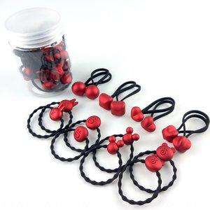 Festive Red 16-piece set boxed children's Rubber rubber band rope band cartoon children's hair rope does not hurt hair jewelry shop